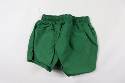 Vintage 90s New Sportcraft Youth Large Lined Nylon Gym Soccer Shorts Green