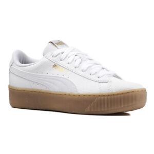 Details zu Puma Vikky Platform VT Damen Sneaker 366805 01 Schuhe Softfoam Weiß Gold SALE