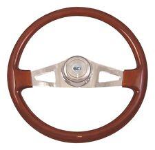 "2 Spoke 18"" Mahogany Steering Wheel 3-Hole for Freightliner, Peterbilt, KW+"