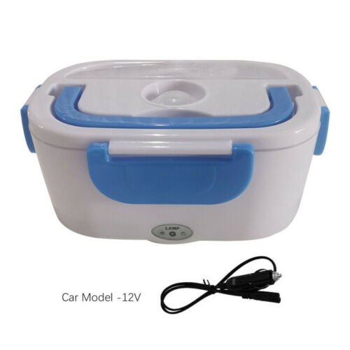 12V Portable Electric Lunch Heated Compact Bento Box Food Warmer Car Adapter UK