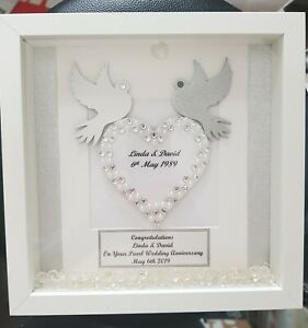 30th Wedding Anniversary Gift.Details About Personalised 30th Wedding Anniversary Gifts Light Frame 3d Wedding Gift Mrs Mr