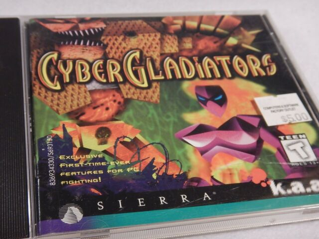 Cyber Gladiators - Sierra Large Boxed PC Game.  (1996)