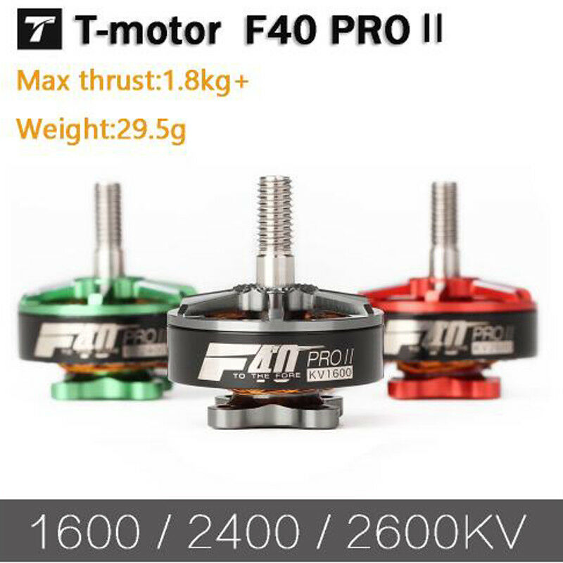 4PCS T-motor F40 PRO II Green 2600KV FPV Brushless Electrical Motor Waterproof