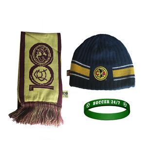2db849ad575 Club America Scarf + Pom Beanie Soccer Mexico Cap hat FMF National ...
