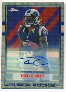 TODD-GURLEY-2015-TOPPS-CHROME-RC-ROOKIE-MINI-SUPERFRACTOR-AUTOGRAPH-SP-AUTO-1-1