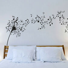 Wall Decal Vinyl Sticker Dandelion Music Note Nature Plants Bedroom Nursery r640