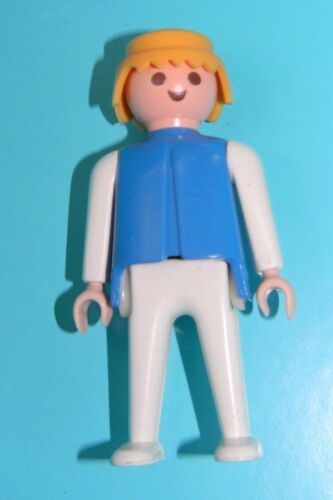 Playmobil 1974 Klicky Blue Man Classic Style Blonde Hair White Pants to 4 Sets