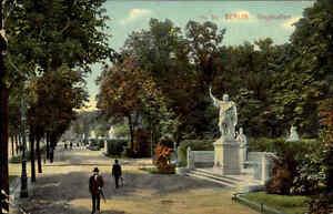 BERLIN-Siegesalle-Personen-Denkmal-Postkarte-1909-AK-gelaufen-nach-Jungbunzlau