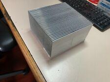 Large Aluminium Heat Sink Extrusion 6 316 X 6 12 X 3 34 Used 6 8 Oz