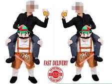 Carry Me Bavarian Beer Guy Ride On Oktoberfest Mascot Costume Adult free ship
