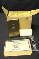 Lot Of 15 Ge Round Hole Bronze Telephone Cable Wallplate +hardware & Switchplate