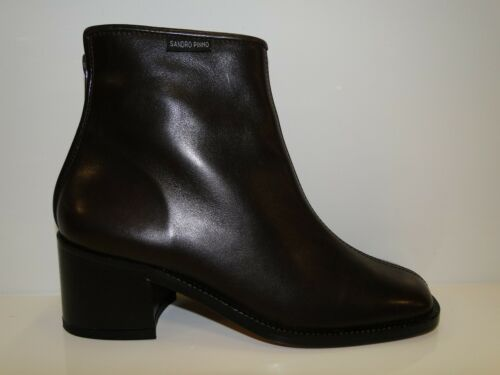 Premium Boots Pinho Ankle Leather Ladies Brown 'castanho' Sandro Op0878