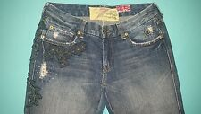 "7 For All Mankind ""Great China Wall"" Bootcut Embroidered Women's Jeans sz 29x30"