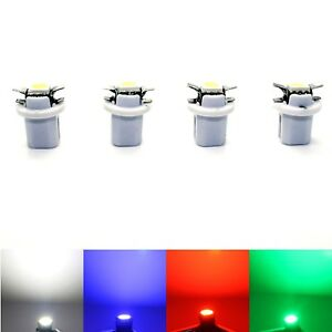 4x-LED-Mercedes-Smart-Fortwo-Typ-450-SMD-Tacho-Beleuchtung-blau-weiss-rot-gruen
