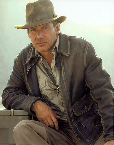 Indiana Jones Distressed Brown Genuine Cow Hide Skin Leather Jacket