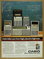 1984 Casio Calculators FX 7 910 98 3600P & 700P color photo vintage print Ad