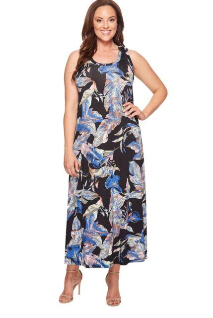 Karen Kane Plus Size Maxi Tank Dress ‑ Multi Color 2x With Tag
