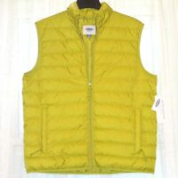 Old Navy Quilted Water Resistant Green Zip-up Vest Size L W/ Tags $49 Rv
