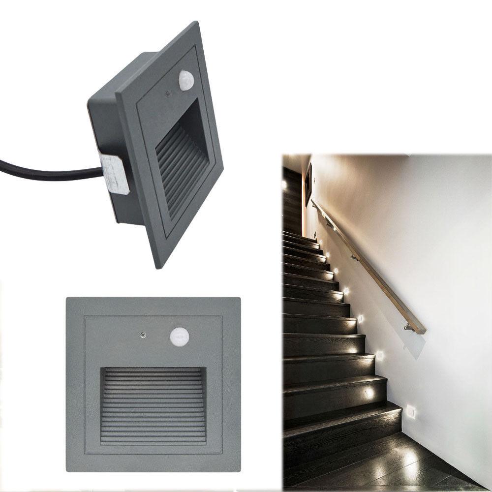 3W LED Wandeinbauleuchte Strahler Treppe Stufenlicht mit Bewegungsmelder Alu   | Lassen Sie unsere Produkte in die Welt gehen  | Treten Sie ein in die Welt der Spielzeuge und finden Sie eine Quelle des Glücks  |  Neuer Markt
