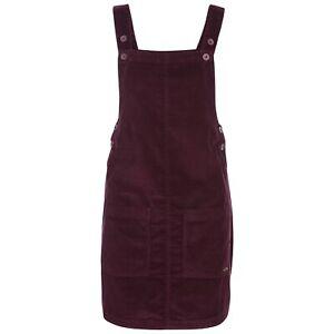 Trespass-Twirl-Womens-Pinafore-Dress-Cotton-With-Pockets-Dungaree-Corduroy
