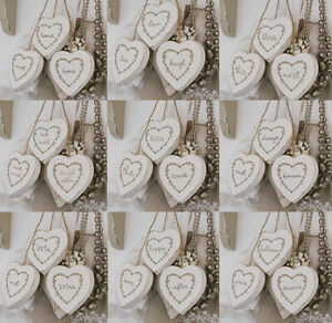 Set-Of-3-Vintage-Shabby-Chic-White-Wooden-Hanging-Hearts-Home-Decoration-6x6-cm