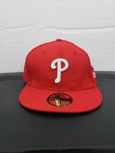 0021274ed6fe21 Image is loading New-Era-59FIFTY-Philadelphia-Phillies-Red-White-Cap-