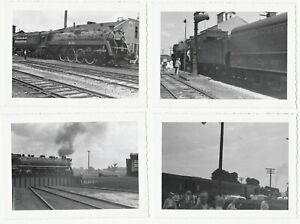 PHOTO-Lot-of-8-Canadian-National-CN-Railroad-Orig-1950-Snapshots-Trains-etc