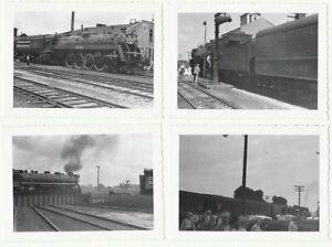 PHOTO-Lot-of-8-Canadian-National-CN-Railroad-Orig-1950-Snapshots-Trains-etc