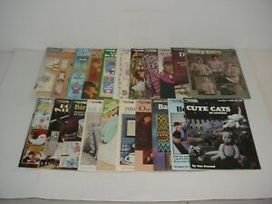 Lot-of-21-Leisure-Arts-Needle-And-Crafts-Magazines-1976-to-1996