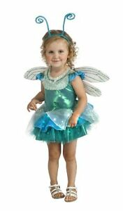 Teal-Green-amp-Aqua-Blue-Dragonfly-Tutu-Deluxe-Girls-Costume-w-Wings-Antennae