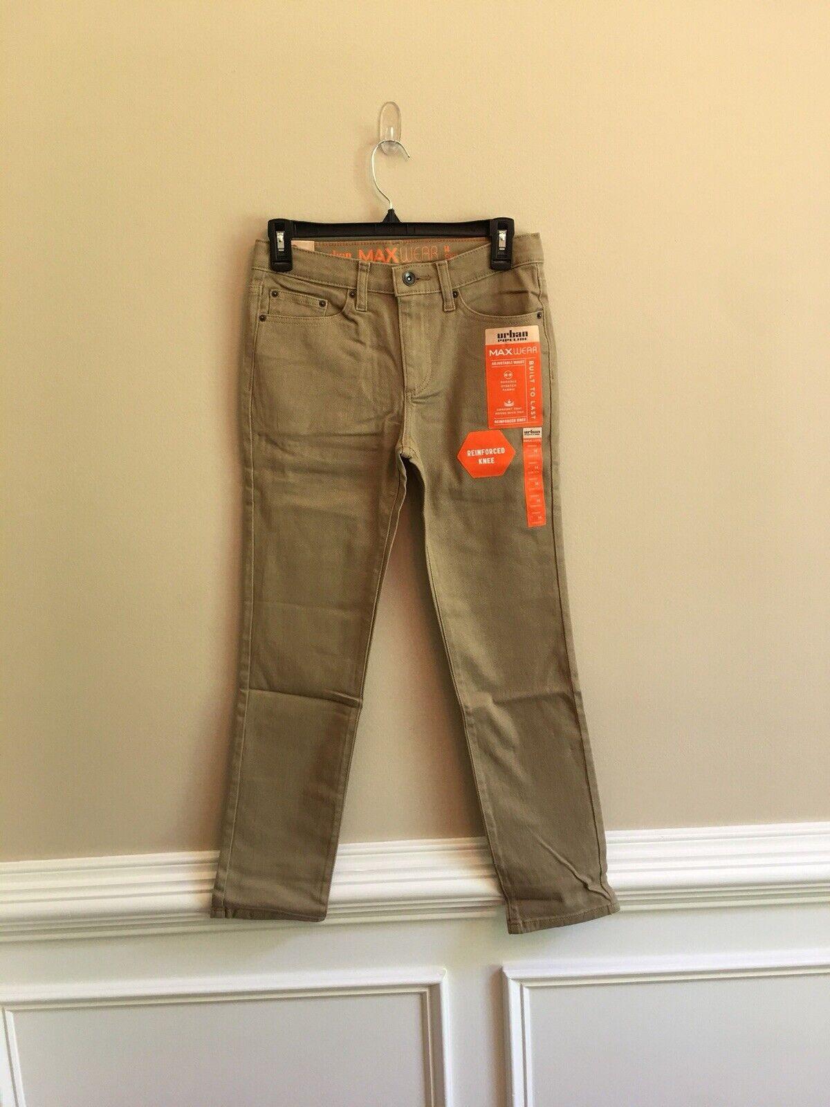 Boys 8-20 Urban Pipeline MaxWear Skinny-Fit Beige Jeans