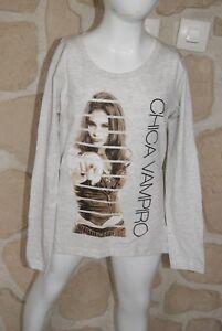 dy Joli tee/_shirt fille rose de marque CHICA  VAMPIRO taille 12 ans