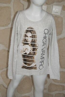 dy Joli Tee_shirt Fille Crème De Marque Chica Vampiro Taille 10 Ans And Children Women Suitable For Men