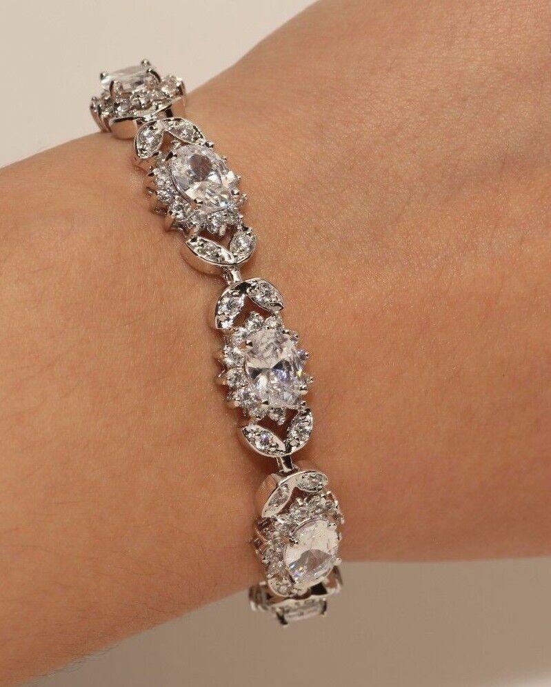 New 14K White gold Finish Diamond Bracelet for Women 2.5ct Rubyshire
