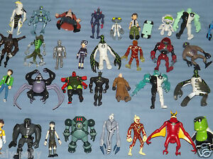 RARE BEN TEN 10 CHARACTERS ACTION FIGURES SMALLER 4 TOYS free uk