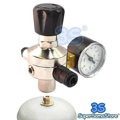 3S RIDUTTORE di PRESSIONE BOMBOLE CO2 per GASATORE ACQUA ACQUARIO SPILLATORE NEW