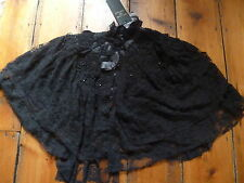 BNWT KATE MOSS BLACK LACE BEADED CAPE, S, TOPSHOP
