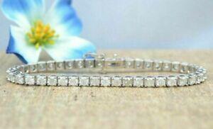 7 00 Ct Round Cut Vvs1 Womens Diamond Tennis Bracelet 14k
