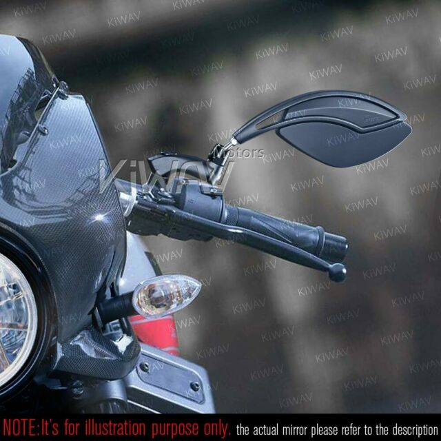 Orca Black Rear Mirrors M10 1.5Pitch Unique Look Foldable for BMW F800GS