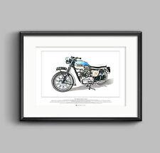 TRIUMPH BONNEVILLE T120 Pre-Unit MOTO-Arte Poster A2 SIZE