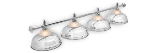 Billard Billardlampe Lampe Leuchte CROWN 4 flammig silber Ø 38cm Billardleuchte