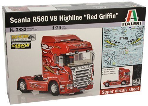 ITALERI 1 24 KIT CAMION SCANIA R560 V8 HIGHLINE ' rojo  GRIFFIN' ART. 3882