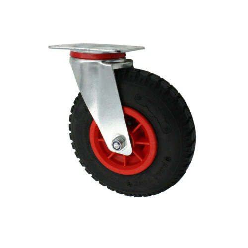 Set 230 mm Luftbereifte Räder Rollen Transportrollen Lenkrollen A1