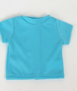 Teal-T-Shirt-fits-American-Girl-Dolls-18-inch-Doll-Clothes-Short-Sleeve