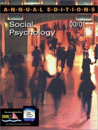 Annual Editions: Social Psychology 00/01