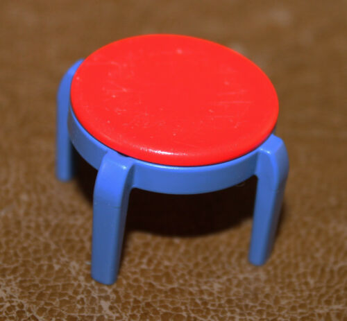 Playmobil mobilier chaise rouge et bleu chambre d/'enfant 3964 3967 ref gg