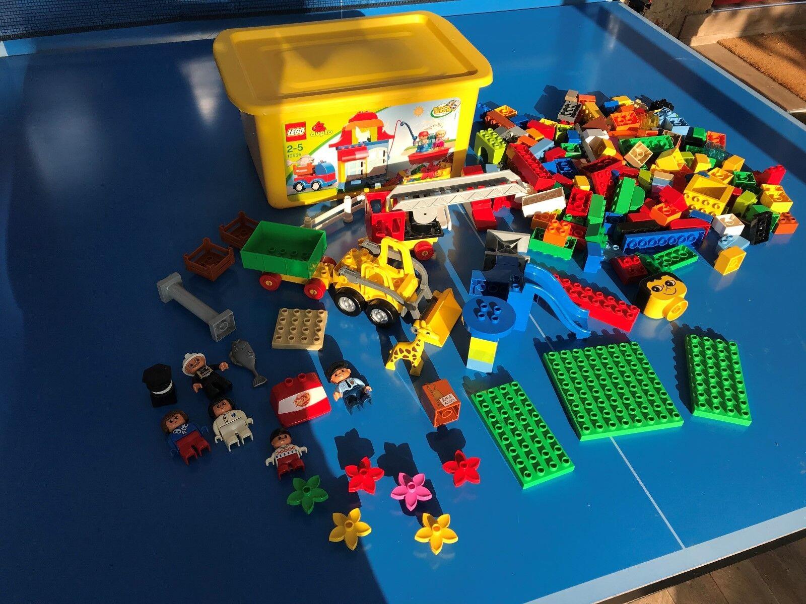 Großes Set Lego Duplo Personn Lkw Grus Bauernhof Zoo Haus Bausteine + 2,0 kg -