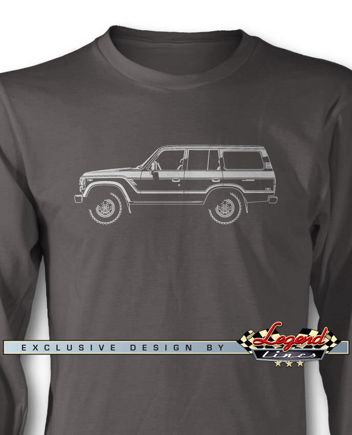 Toyota BJ62 FJ62 Land Cruiser Long Sleeves T-Shirt Multi. colors & Sizes