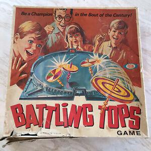 Ideal-Battling-Tops-Vintage-Game-1968-Incomplete