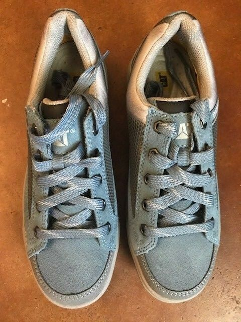 New New New Cat Caterpillar Para Mujer Ace Azul Zapato De Trabajo Con Puntera De Acero 7 M Envío Gratuito f9874c